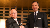 AMADA's President & CEO Mitsuo Okamoto awarded France's Legion Dhonneur